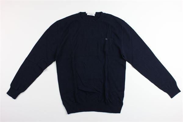 maglia manica lunga tinta unita con taschino PAOLO PECORA | Maglie | PP0732BLU