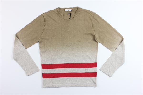 maglia maniche lunghe tricolore PAOLO PECORA | Maglie | PP1148BEIGE