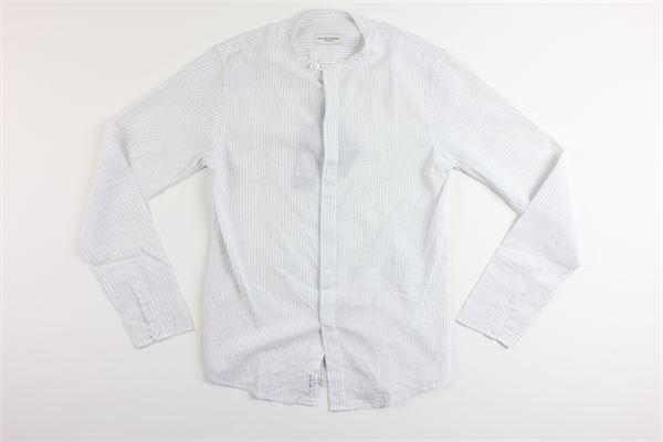 camicia manica lunga tinta unita fantasia e righe PAOLO PECORA | Camicie | PP1242BIANCO