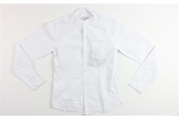 camicia manica lunga tinta unita con taschino PAOLO PECORA | Camicie | PP1316BIANCO