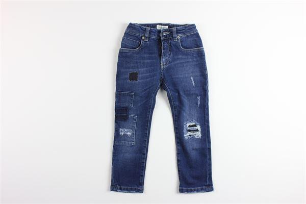 jeans tinta unita 5 tasche girovita regolabile PAOLO PECORA | Jeans | PP1461BLU