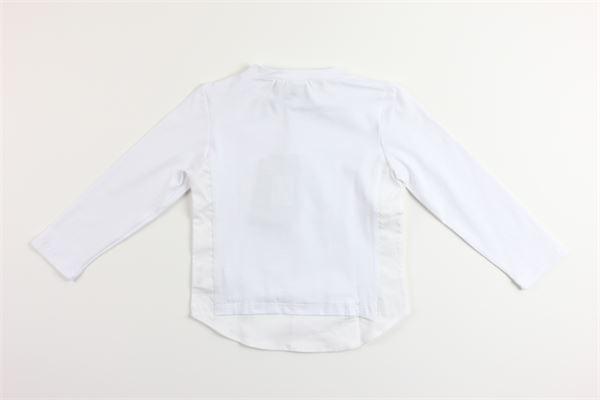 shirt tinta unita con finta camicia PAOLO PECORA | Shirts | PP1499BIANCO