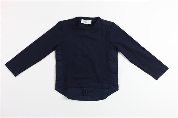 shirt tinta unita con finta camicia PAOLO PECORA | Shirts | PP1499BLU