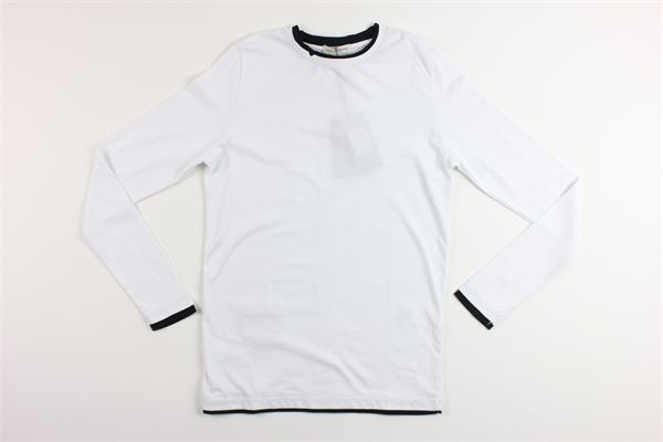 shirt tinta unita con profili in contrasto PAOLO PECORA | Shirts | PP1582BIANCO