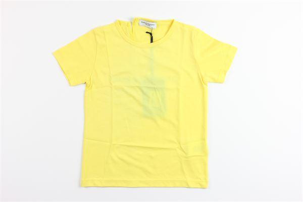 t-shirt tinta unita con stampa PAOLO PECORA | T-shirts | PP1731GIALLO