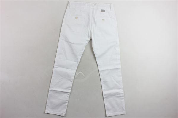 pantalone tinta unita PAOLO PECORA | Pantaloni | PP1832BIANCO