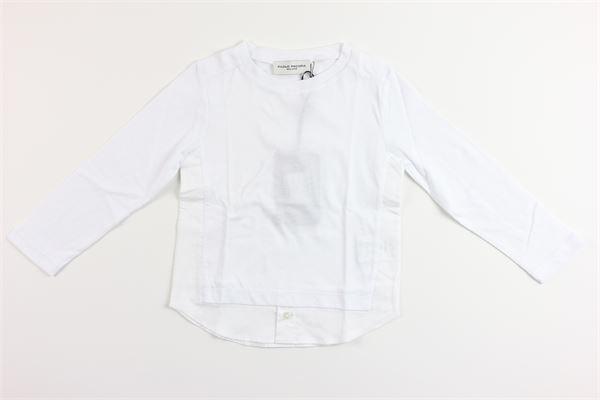 shirt tinta unita con camicia finta PAOLO PECORA | Shirts | PP2041BIANCO