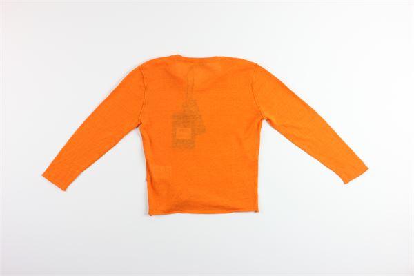 maglia tinta unita 65%lino 35%cotone PAOLO PECORA | Maglie | PP2105ARANCIO