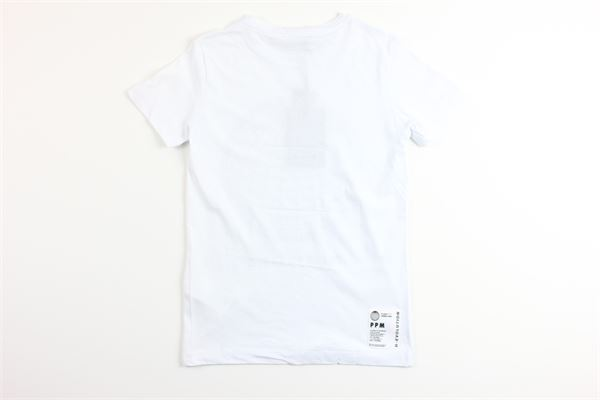 t-shirt mezza manica tinta unita con stampa PAOLO PECORA | T-shirts | PP2201BIANCO