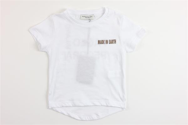 t-shirt tinta unita con stampa PAOLO PECORA | T-shirts | PP2240BIANCO