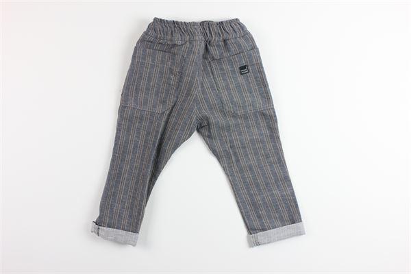 pantalone elastico in vita fantasia a righe tasche a filo PAOLO PECORA | Pantaloni | PP2318GRIGIO