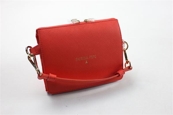 doppio modello pochette/bag tinta unita con profili in contrasto PATRIZIA PEPE | Borse | 2V6961/A1ZLROSSO