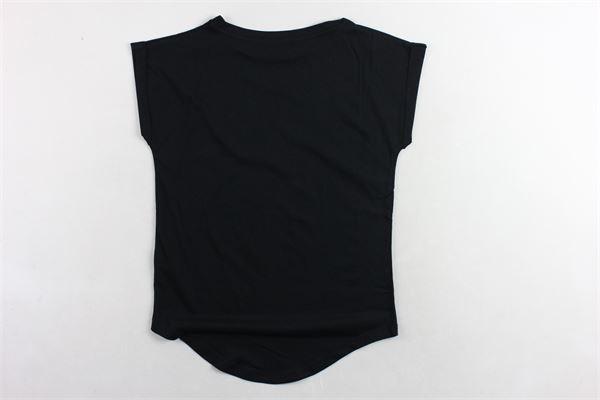 t-shirt mezza manica tinta unita con stampa PATRIZIA PEPE | T-shirts | TE27PNERO