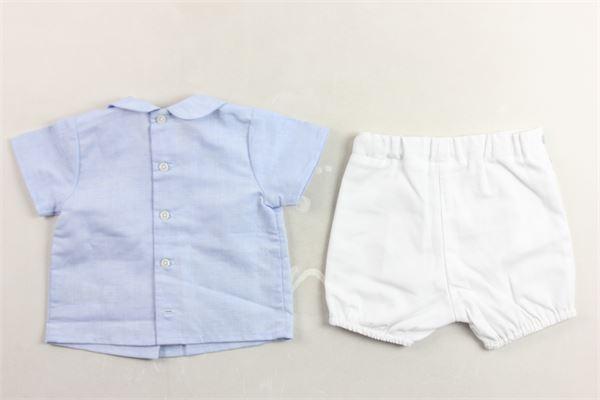 camicia mezza manica tinta unita e bermuda tinta unita PAZ RODRIGUEZ | Completi | 006-15271CELESTE/BIANCO