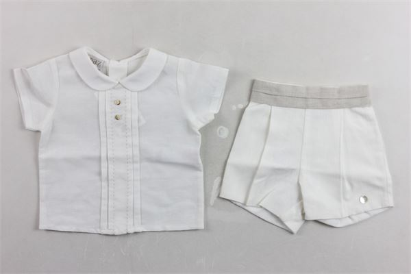 camicia con short tinta unita. PAZ RODRIGUEZ | Completi | 006-15296BIANCO
