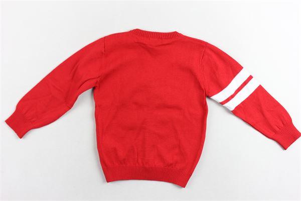 cardigan manica lunga 100% cotone con logo profili in contrasto PEUTEREY | Maglie | PTB1531ROSSO