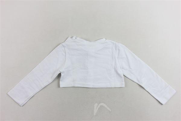 coprispalle tinta unita manica lunga in cotone con fiocco e stampa PEUTEREY | Coprispalle | PTG0328BIANCO