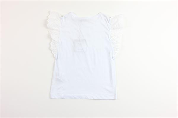 t-shirt manica ad aletta tinta unita PHILOSOPHY | T-shirts | PJTS311BIANCO