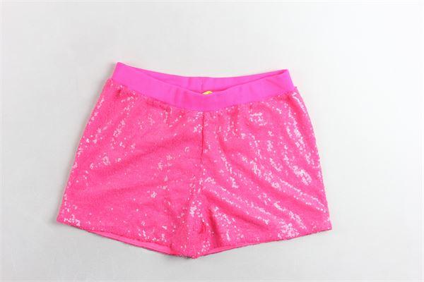 short elastico in vita con applicazioni pailettes PINKO | Shorts | 024587FUXIA FLUO