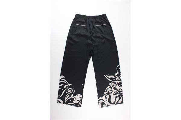 pantalone tinta unita con stampa a palazzo PINKO | Pantaloni | KODANERO