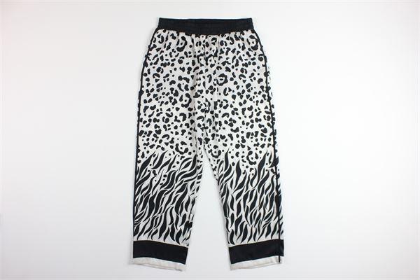 pantalone a palazzo fantasia maculato PINKO | Pantaloni | PASTICCIOTTONERO/BIANCO