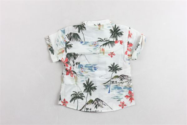 camicia mezza manica con stampa famtasia PLEASE | Camicie | CC37084B20BIANCO