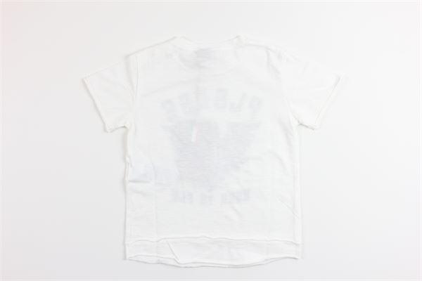 t-shirt mezza manica tinta unita con stampa PLEASE | T-shirts | MB36030BBIANCO