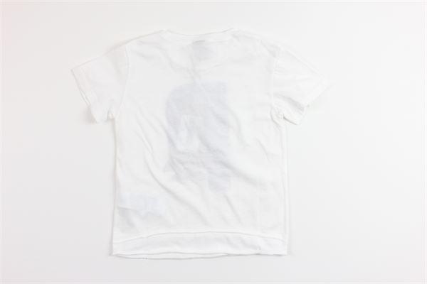 t-shirt mezza manica tinta unita con stampa PLEASE | T-shirts | MB38030BBIANCO
