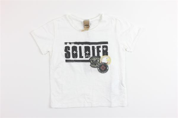 t-shirt mezza manica tinta unita con stampa PLEASE | T-shirts | MB64030BIANCO