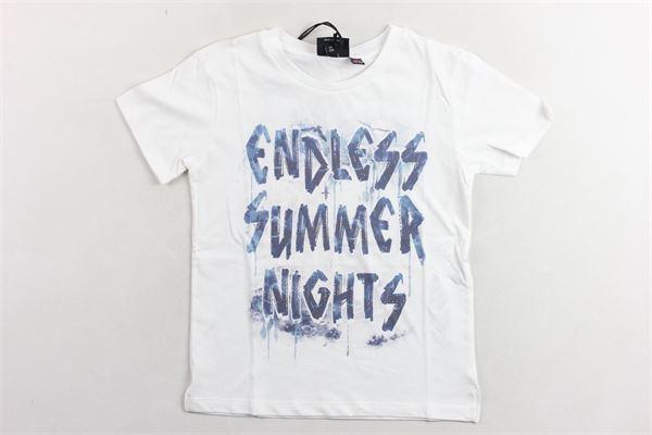 t-shirt tinta unta con stampa PLEASE | T-shirts | MB92030B21BIANCO