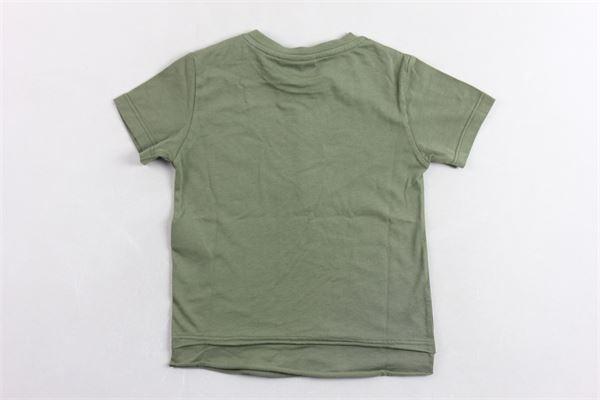 t-shirt tinta unta con stampa PLEASE | T-shirts | MBB3030B20VERDE MILITARE
