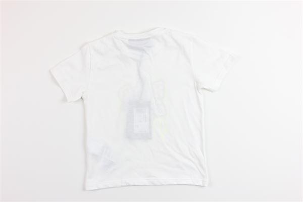 t-shirt mezza manica tinta unita con stampa PLEASE | T-shirts | MBE6030B20BIANCO