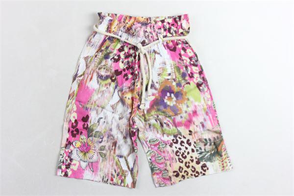 pantalone a palazzo elastico in vita PLEASE | Panataloni | RS07364G20ROSA