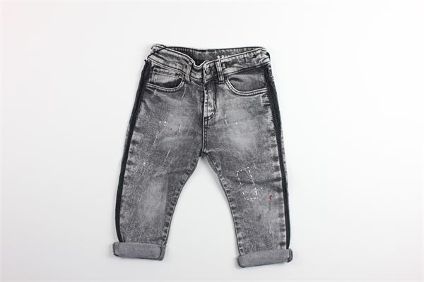 jeans in denim tinta unita con girovita regolabile RAFFINERIE | Jeans | J458GRIGIO