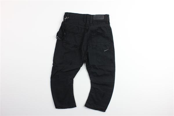 jeans in denim tinta unita con girovita regolabile RAFFINERIE | Jeans | J532NERO