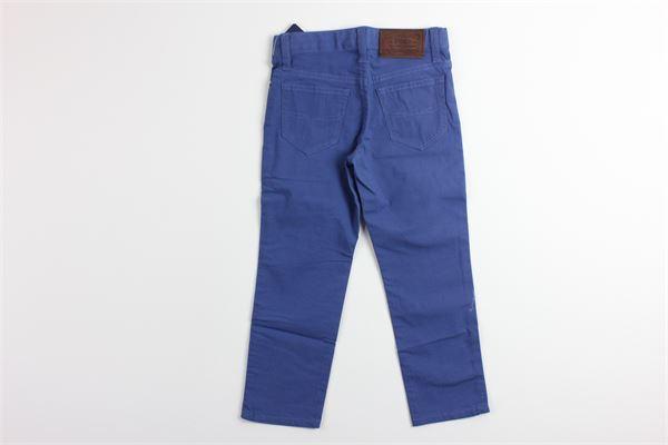 pantalone tinta con girovita regolabile RALPH LAUREN   Pantaloni   3216899328004BLU