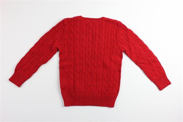 maglia girocollo tinta unita RALPH LAUREN | Maglie | 322702674004ROSSO