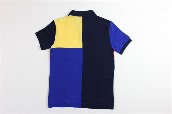 polo multicolor con stampa RALPH LAUREN   Polo   322755290001BLU