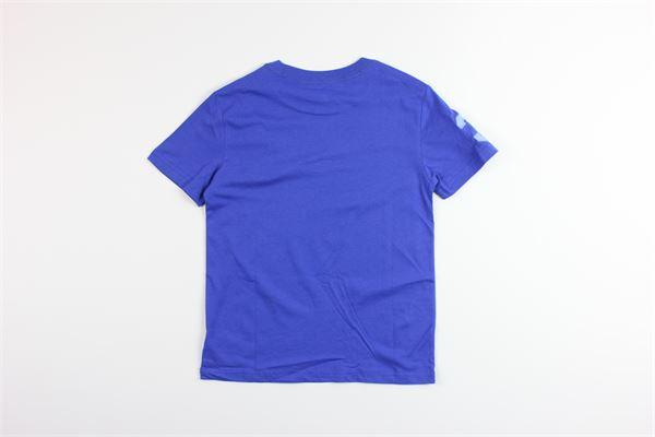 t-shirt tinta unita con stampa logo RALPH LAUREN   T-shirts   322770077012BLU ELETTRICO