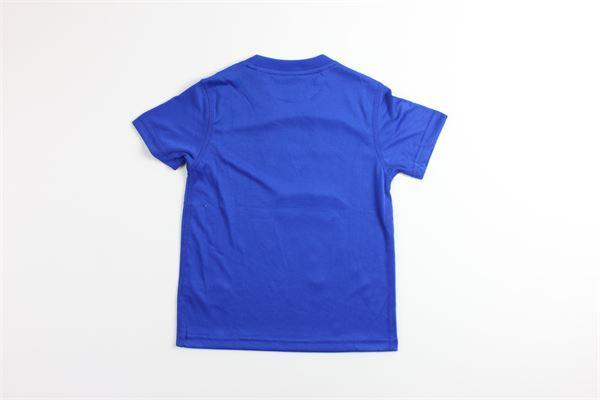 t-shirt tinta unita con stampa RALPH LAUREN   T-shirts   322786007001COBALTO