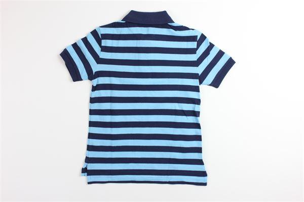 polo mezza manica fantasia a righe RALPH LAUREN   T-shirts   322786338002BLU