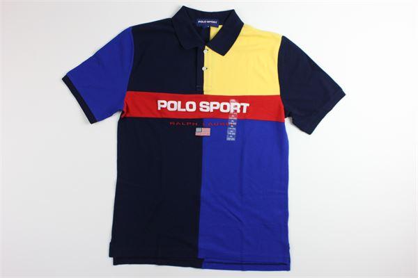 polo multicolor con stampa RALPH LAUREN   Polo   323755290001BLU