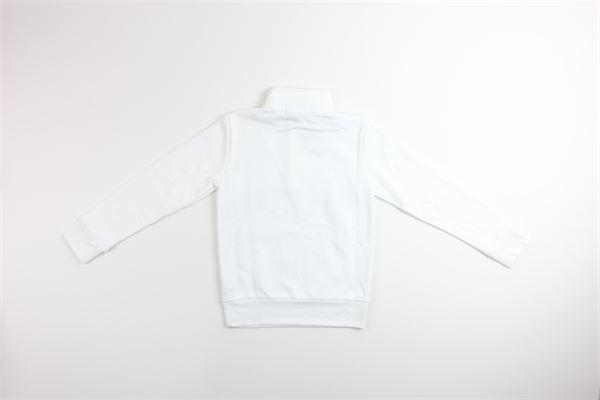 maglia mezzo collo e zip tinta unita con stampa RALPH LAUREN | Maglie | 323795480002BIANCO