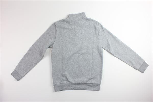 maglia mezzo collo e zip tinta unita con stampa RALPH LAUREN | Maglie | 323795480003GRIGIO