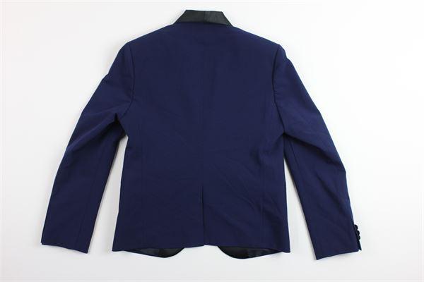 giacca tinta unita con profili in contrasto REEF55 | Giacche | CR2/240BLU