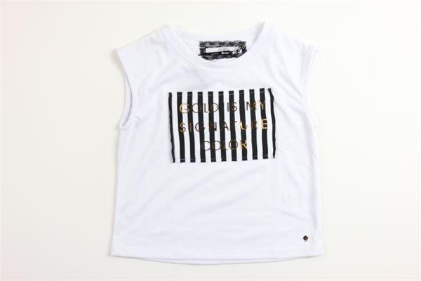 t-shirt tinta unita con stampa RELISH | Canotte | TSRE181306BFBIANCO