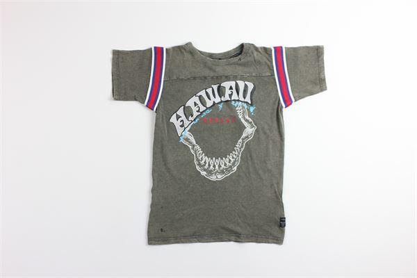 t-shirt tinta unita con stampa REPLAY | T-shirts | SB7341VERDE MILITARE