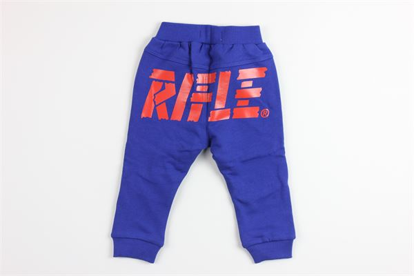 pantalone in felpa tinta unita con stampa RIFLE | Pantaloni | 8838209800BLU ELETTRICO