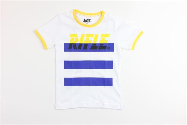 t-shirt tinta unita con stampa RIFLE | T-shirts | 8838433800BIANCO