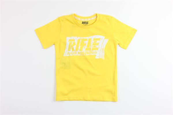t-shirt tinta unita con stampa RIFLE | T-shirts | 8838498602GIALLO